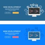 De illustratie van de Webontwikkeling Stock Foto