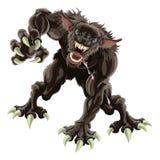 De illustratie van de weerwolf Stock Afbeeldingen