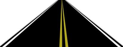 De illustratie van de weg Stock Afbeeldingen