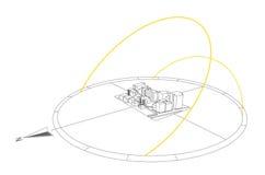 De illustratie van de Weg van de zon Royalty-vrije Stock Afbeeldingen