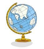 de illustratie van de wereldbol Stock Afbeelding