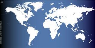 de illustratie van de wereldkaart Stock Fotografie