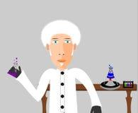 De Illustratie van de wetenschapper stock illustratie