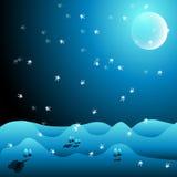 De illustratie van de winter Stock Afbeeldingen