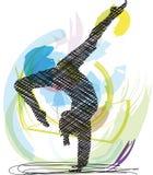 De illustratie van de yoga. Stock Fotografie