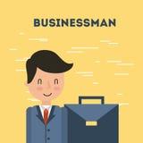 De illustratie van de zakenmanaktentas vector illustratie
