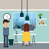De illustratie van de zakenmanaktentas stock illustratie