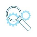 De Illustratie van de zoekmachineoptimalisering royalty-vrije illustratie