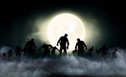 De illustratie van de zombiewereld Stock Afbeelding