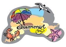 De illustratie van de zomerschets Stock Foto's