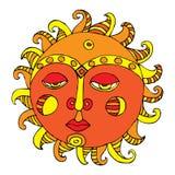 De illustratie van de zon Stock Afbeelding
