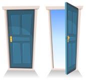 Gesloten en Open deuren, royalty-vrije illustratie