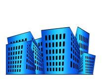 De Illustratie van gebouwen Stock Foto's
