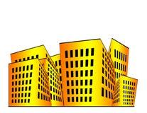 De Illustratie van gebouwen Royalty-vrije Stock Foto