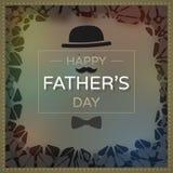 De illustratie van de de groetkaart van de vader` s dag vector illustratie