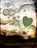 De illustratie van Grunge met retro elementen Royalty-vrije Stock Foto