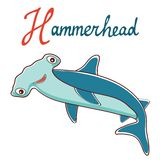 De illustratie van H is voor Hammerhead Stock Foto