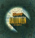 De illustratie van Halloween Royalty-vrije Stock Foto