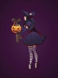 De illustratie van Halloween heks Royalty-vrije Stock Foto