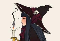 De illustratie van Halloween heks Stock Fotografie
