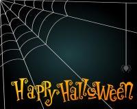 De illustratie van Halloween spiderweb Royalty-vrije Stock Afbeeldingen