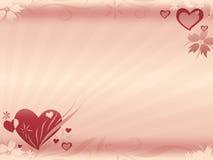De illustratie van harten Stock Afbeelding
