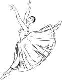 De illustratie van het ballet dancer Stock Afbeeldingen