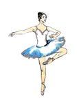 De illustratie van het ballet dancer Stock Foto's