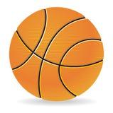 De illustratie van het basketbal Stock Foto's
