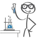 De illustratie van het beeldverhaal gekke professor Wetenschapsexperiment royalty-vrije illustratie