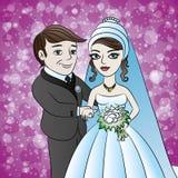 De illustratie van het beeldverhaal Huwelijk stock illustratie