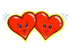 De Illustratie van het Beeldverhaal van harten Stock Foto