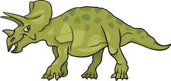 De illustratie van het beeldverhaal van triceratopsdinosaurus Stock Afbeelding