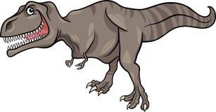 De illustratie van het beeldverhaal van tyrannosaurussendinosaurus Stock Afbeeldingen