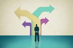 De illustratie van het besluitvormingsconcept Stock Foto's