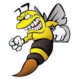 De Illustratie van het bijenbeeldverhaal Stock Foto