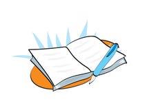 De illustratie van het boek Stock Foto's