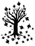 De illustratie van het boomsilhouet vector illustratie