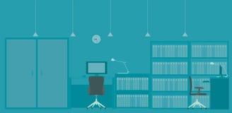 De illustratie van het bureau Stock Afbeelding