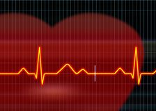 Cardiogramillustratie stock afbeeldingen