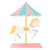 De Illustratie van het carrouselpaard Royalty-vrije Stock Foto's