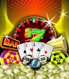 De illustratie van het casino Royalty-vrije Stock Afbeeldingen