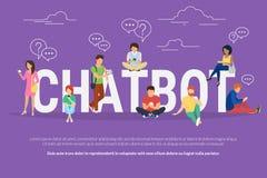 De illustratie van het Chatbotconcept Stock Afbeeldingen