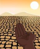 De Illustratie van het Concept van de Vluchteling van de Hongersnood van de Droogte van Afrika Stock Foto's