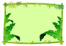 De Illustratie van het Concept van het Frame van het bamboe en van de Wildernis Stock Afbeeldingen