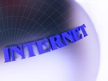 De Illustratie van het Concept van Internet in Blauw Stock Afbeelding
