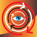 De illustratie van het concept van menselijke visie en psycholog Royalty-vrije Stock Foto's