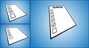 De Illustratie van het concept van om lijst te doen of de taak maakt van een lijst Stock Afbeelding