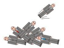 De illustratie van het de crisisontslag van de werkloosheid Royalty-vrije Stock Afbeelding