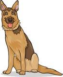 De illustratie van het de hondbeeldverhaal van de Duitse herder Stock Afbeeldingen